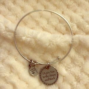 Jewelry - Silver charm bangle
